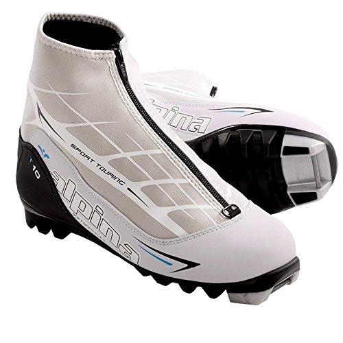 (Alpina T10 Eve Touring Boot - Women's White/Black, 37.0)