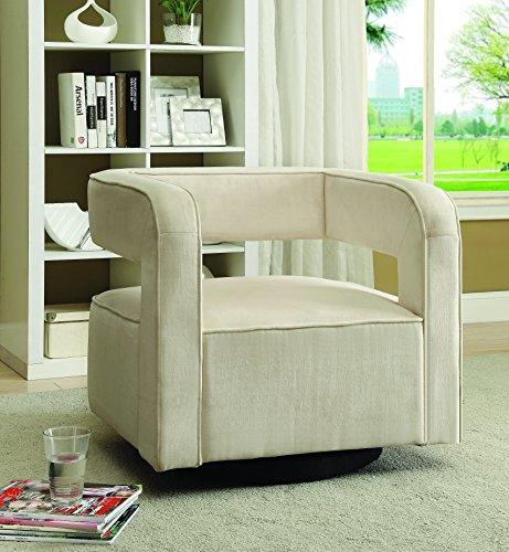 Coaster Home Furnishings 902427 Accent Chair, White Velvet