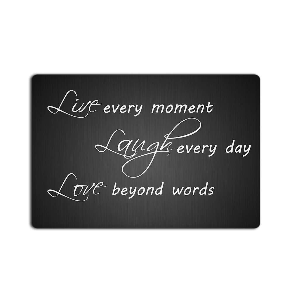 Live Every Moment Laugh Every Day Love Beyond Words - Door Mats Kitchen Floor Bath Entrance Rug Mat Absorbent Indoor Bathroom Decor Doormats Rubber Non Slip 32'' x 20''