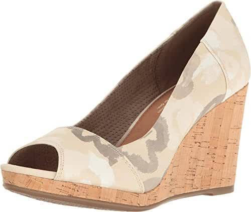 TOMS Women's Stella Wedge Natural Watercolor Floral Wedge