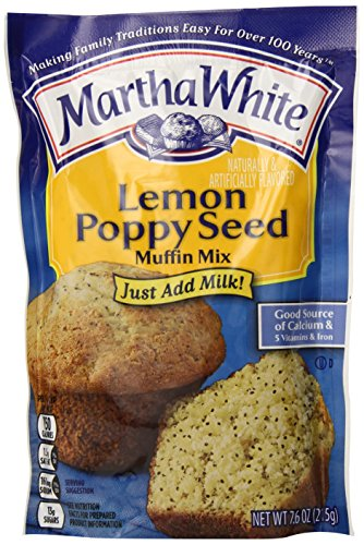 Martha White Lemon Poppy Seed Muffin Mix, 7.6-Ounce (Pack of 12)