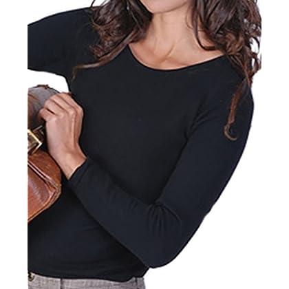 61164f28757a1f comBalldiri 100% Cashmere Kaschmir Damen Pullover Rundhals 2-fädig schwarz L  | Amazon