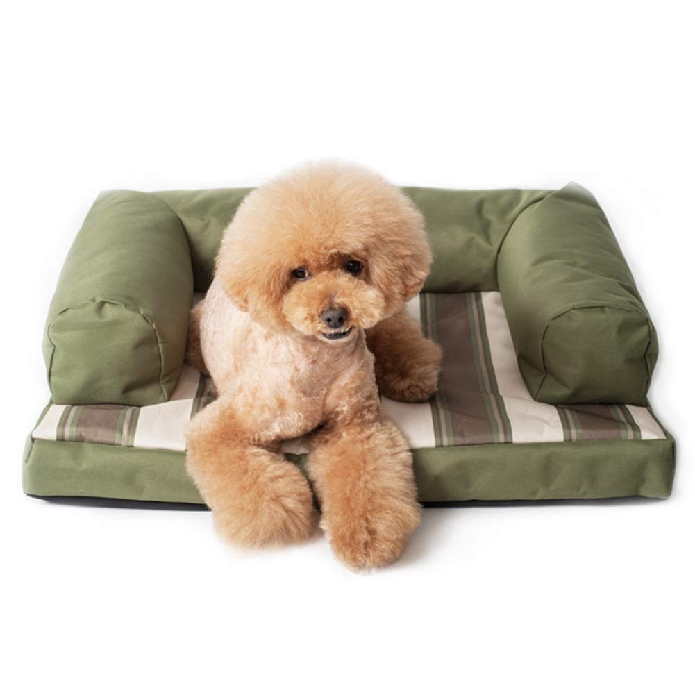 LXLA Orthopedic Dog Bolsters Bed, Waterproof Pet Lounge Sofa for Small Medium Dogs, Removable Cover & Memory-Foam