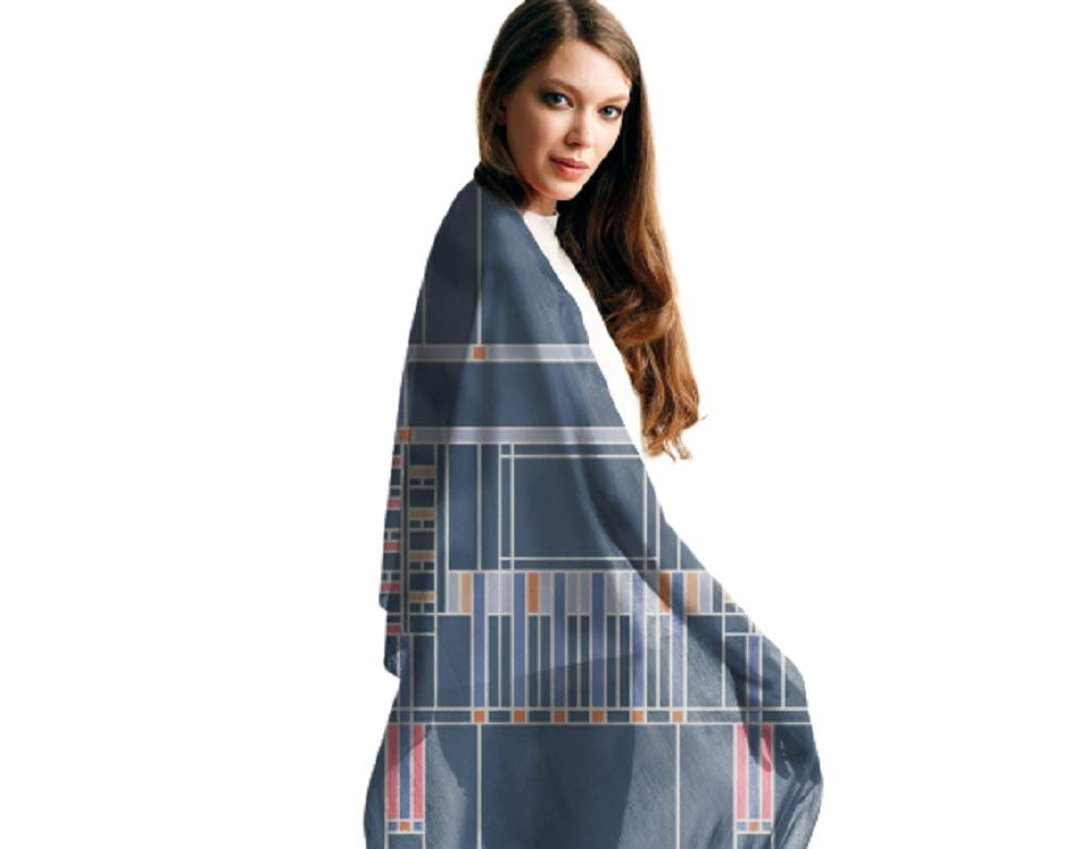 VIDA | Cadet Blue Modal Scarf (1955 Textile Design - 107) | Original Artwork by Frank Lloyd Wright by VIDA