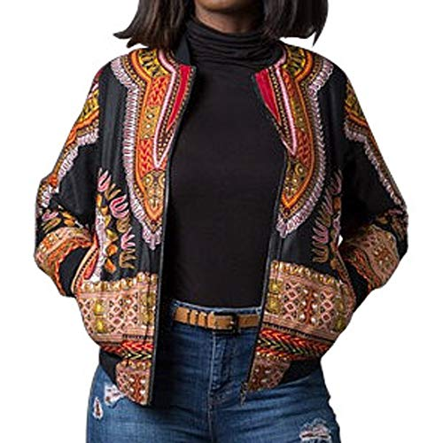 Ladies Tops Clearance,KIKOY Fashion African Print Dashiki Short Casual Jacket