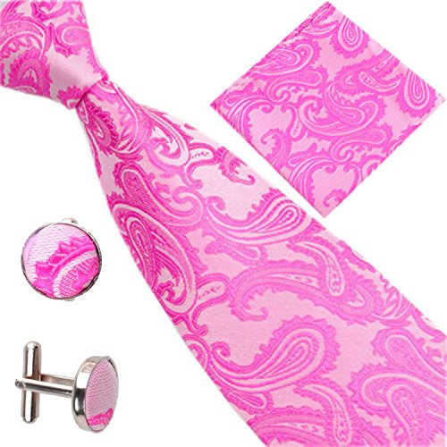 Set Various Square Occasions Paisley of Patterned Red Rose Men Pocket Cufflinks Tie UqwAOUp
