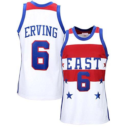 Men's Adult Julius Erving #6 White All Star East 1980 Basketball Jersey Basketball Shirt
