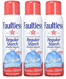 Faultless Regular Spray Starch 20 oz Cans (Pack of 3)