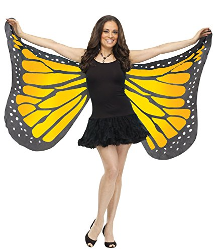 Butterfly Costume Accessories (Soft Butterfly Wings Costume Accessory, OS, Orange)