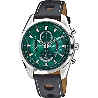 accurist mens green dial chronograph watch date display accurist mens green dial chronograph watch date display ms785e