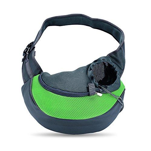 [해외]작은 애완 동물 캐리어 슬링, 야외 여행 토트 강아지 캣에 대 한 단일 숄더 가방 캐리어 애완 동물 개 고양이 6 파운드 이내/Small Pet Carrier Sling,Outdoor Travel Tote Single Shoulder Bag Carrier for Puppy Pet Dog Cat within 6lbs