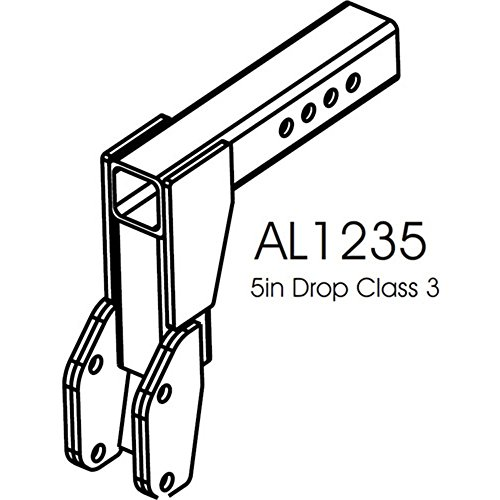 AL1235U Class III Hitch 5' Drop Adapter for Harmar & Freedom Mobility outside carriers Lifts AL100, AL500