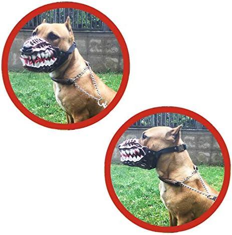 Kauen und Bellen verhindert Bei/ßen WhaleCreation lustiges Hundekost/üm Maulkorb mit gro/ßen blutigen Z/ähnen