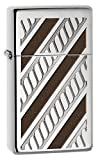 Zippo High Polished Chrome Slim Armor Rope Band Pocket Lighter