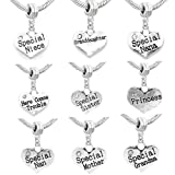 Family Charms to Choose for Snake Chain Charm Bracelets