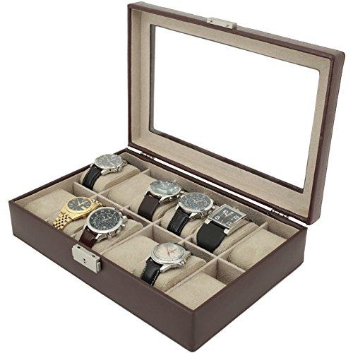Tech Swiss TS2890BRNW Watch Storage Box