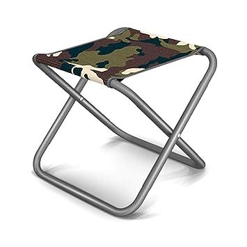 Amazon.com: YANGMAN Taburete plegable portátil de metal ...