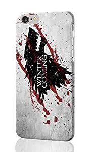 "SUUER Game of Thrones Cute Wolf Cool iPhone 6 -4.7 inches 3D Case , Designer Personalized Custom Plastic Hard CASE for iPhone 6 (4.7"") Durable New Style Rough Skin 3D Case Cover"