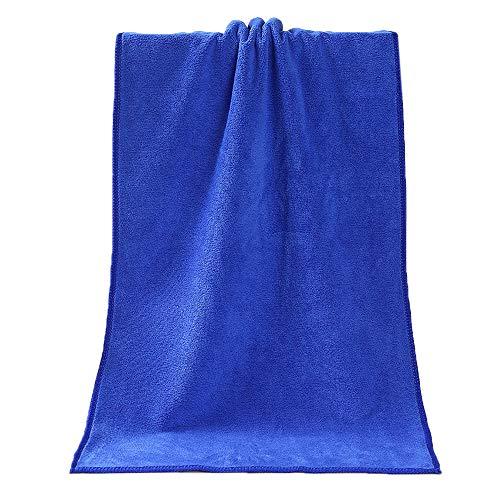 Iuhan  Bath Tower, Bathing Towel Shower Absorbent Superfine Fiber Soft Comfortable Bath Towel (Blue)