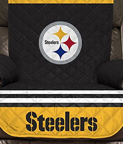 80-inches by 65-inches Pegasus Sports NFL Unisex NFL Recliner Reversible Furniture Protector with Elastic Straps