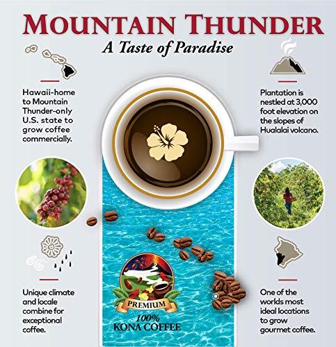 100% Kona Coffee Espresso Roast - 5 Pounds Premium Gourmet Whole Bean by Mountain Thunder Coffee Plantation by Mountain Thunder (Image #5)