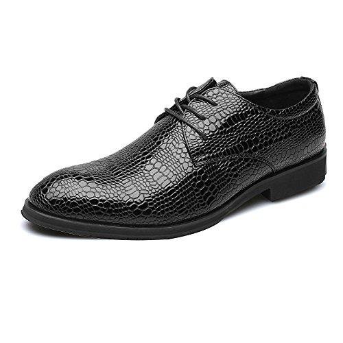 NIUWJ Hommes Gentleman Affaires Casual Mode Britannique Style Chaussures de Mariage de La Jeunesse de La Jeunesse Black 8gv4g1