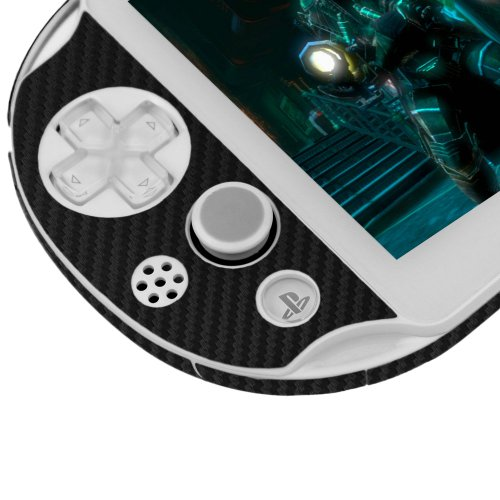 Skinomi® TechSkin - Sony PS Vita PCH-2000 Screen Protector + Carbon Fiber Full Body Skin / Front & Back Premium HD Clear Film / Ultra Invisible and Anti Bubble Shield