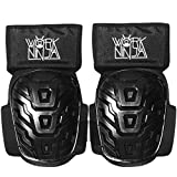 Work Ninja Construction Work Knee Pads For: Carpenters Gardening Cleaning Flooring; Heavy Duty EVA Foam For Professional Grade Adjustable Padded Knee Support 900D Nylon Waterproof Knee Pads