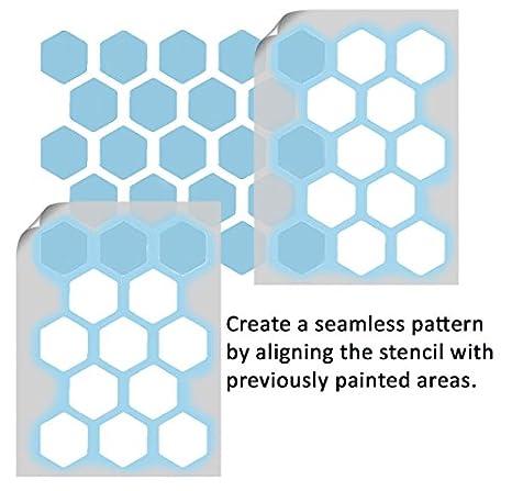 Waben-Schablone, | Farbe Bespoke Tapete Effekt | Wände Stoffe ...