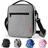 Yookeehome Lunch Box Insulated Lunch Bag with Zipper with Shoulder Strap for Adults Kids Men
