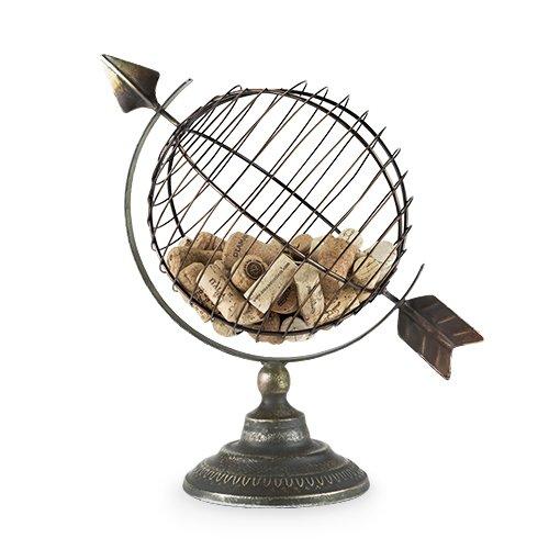 Cork Display (Twine 5596 Chateau Old World Globe Cork Display Wine Accessories, Bronze)