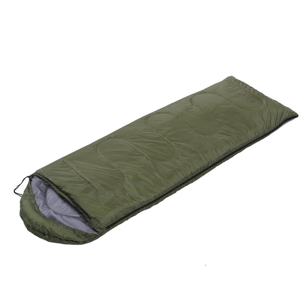 Sleeping Bag Envelope Camping Bedding Pad with Compression Sack Ultralight Compact Bag (Army Green)