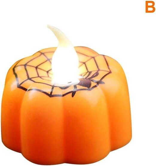 Halloween-Laterne Elektrische Halloween Kerze Lampe Led Kerze Simulation Flamme Licht Kleine /Öl Kerze Lampe Licht F/ür Halloween Party Dekoration