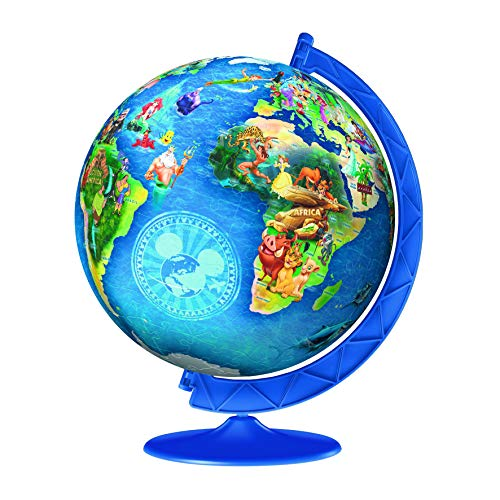 Ravensburger Disney Globe 180 Piece 3D Jigsaw Puzzle Ball for Kids and Adults - Easy Click Technology Means Pieces Fit Together - Ball Puzzle Ravensburger
