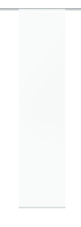 Home fashion 86021–701H: 300x B: 60cm Tenda a pannello con ROM, tessuto decorativo, Bianco 86021-701 H:300 x B:60 cm