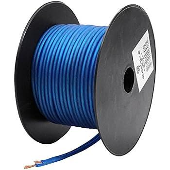 Amazon installgear 14 gauge awg 100ft speaker wire true spec rockville r14gblu50 blue 14 gauge 50 foot mini spool car audio speaker wire greentooth Image collections