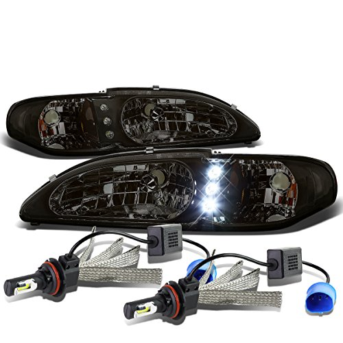 5 Pair of Smoked Lens Amber Signal LED Headlight + 9007 LED Conversion Kit ()