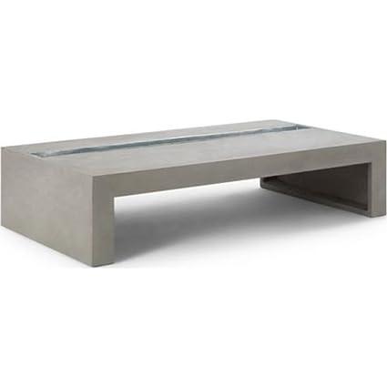 Amazon Com Lyon Beton Green Rectangular Coffee Table