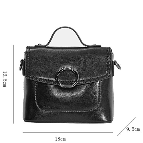 Shoulder Bag Messenger Square Retro Bag Package Female package Leather Small Small Bag JIUTE Fashion Female IqZnY