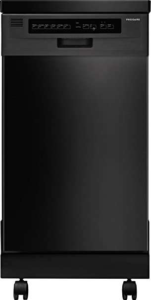 FFPD1821MB 18u0026quot; Fully Integrated Portable Dishwasher With 6 Wash Cycles  59 DBA China/Crystal