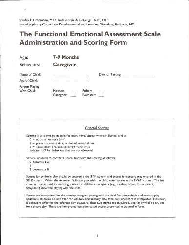 Functional Emotional Assessment Scale Scoring Booklets (FEAS)