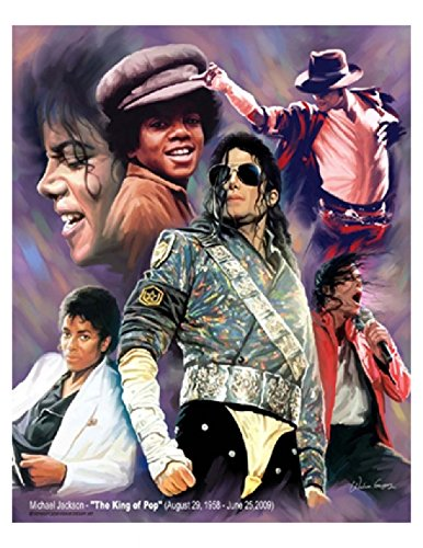 Michael Jackson - The King of Pop Poster Print by Wishum Gregory x 11