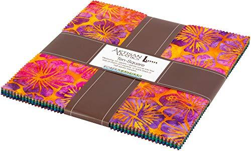 - Lunn Studios Artisan Batiks Totally Tropical Ten Square 42 10-inch Squares Robert Kaufman TEN-665-42