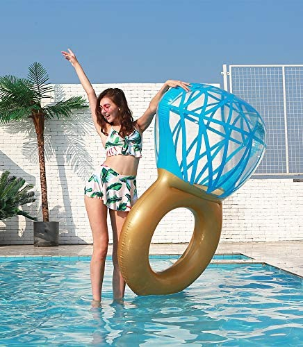 Zoostliss Inflatable Diamond Ring Pool Float for Adults /& Kids