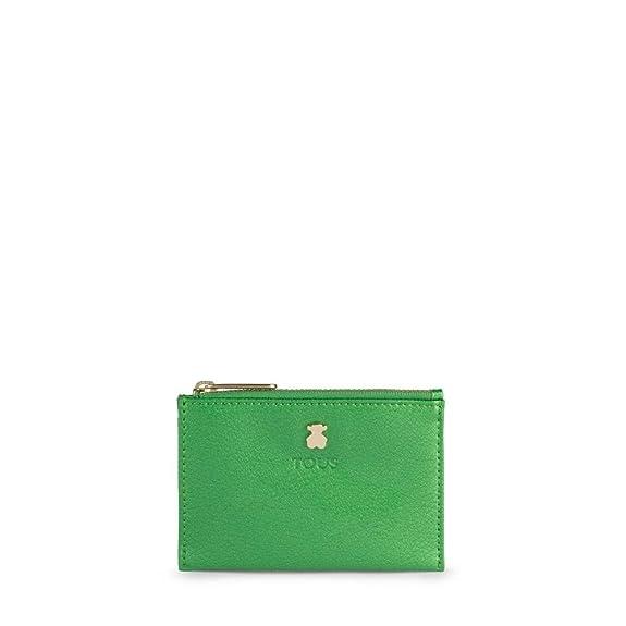 Tous 995960252, Monedero para Mujer, (Verde), 11.5x8x1 cm (W ...