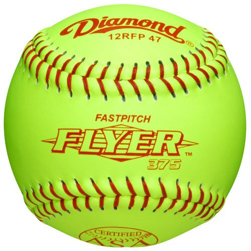 Diamond Asa Fast Pitch Flyer Leather Softballs 12