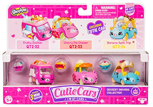 - Shopkins Cutie Cars Three Pack - Dessert Drivers Collection
