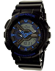 G-Shock GA110CB-1A Blue Color Theme Stylish Watch - Black/Blue / One Size