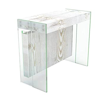 arredo Cucina casa Design Tavolo consolle allungabile Karen con Porta allunghe in Legno in 5 colorazioni allungabile da 51,5 cm 300 cm VE.CA.s.r.l Bianco frassinato