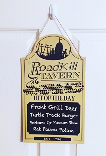 Spooky Halloween Signs (Spooky Fun Halloween Wooden Menu Signs (Roadkill Tavern))